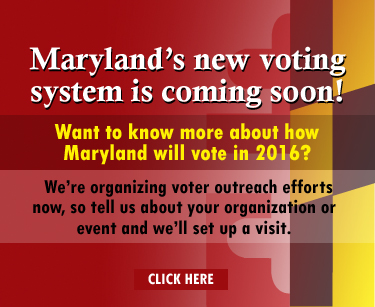 Maryland's new voting system is coming soon. Learn more about it.