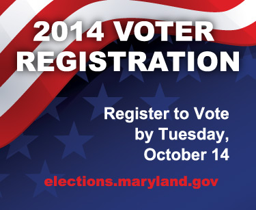 Register to vote for the General Election by October 14, 2014