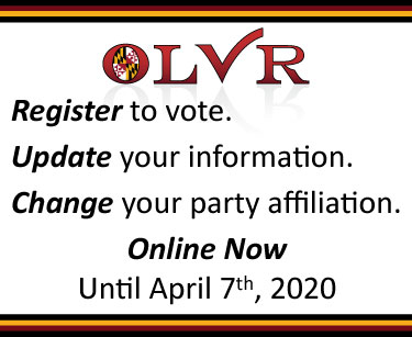 Register to vote, update your registration, change your party affiliation. Online Now until October 16th, 2018 at 9pm